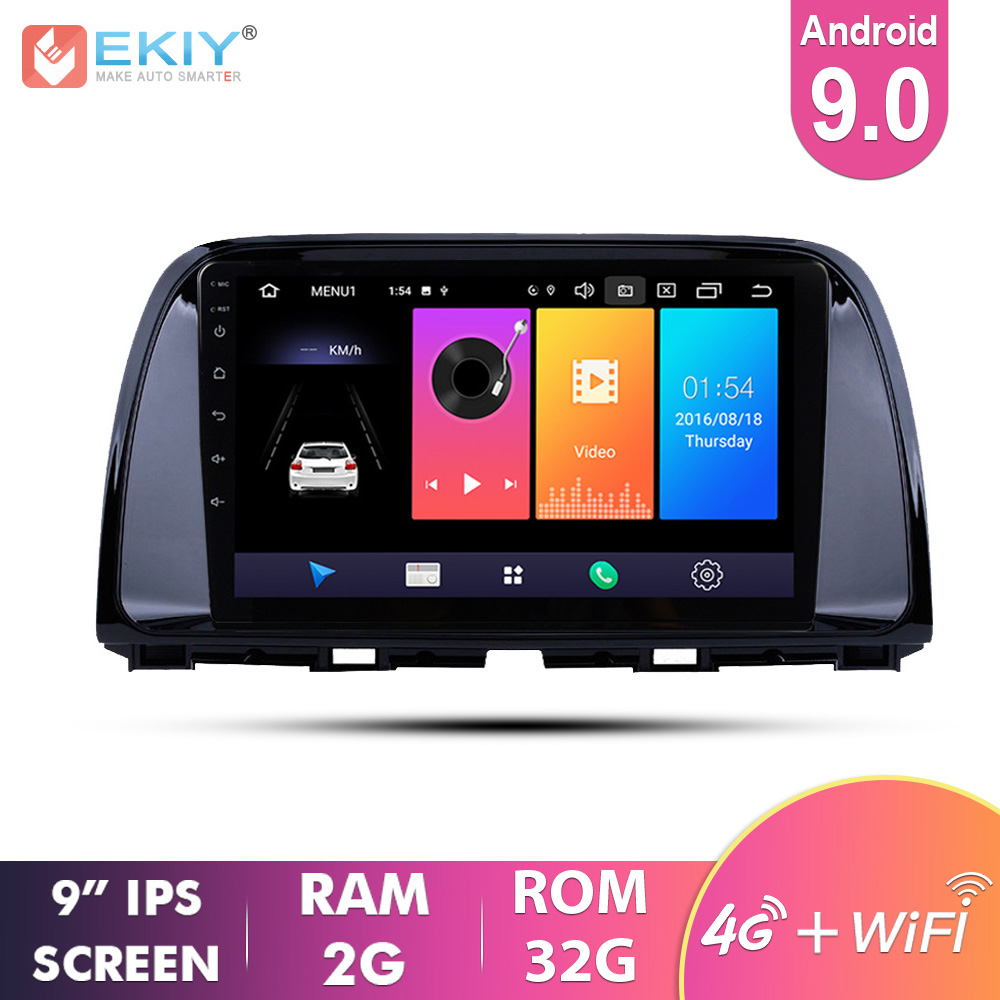 EKIY 9'' IPS Car Radio Multimedia Android 9.0 For <font><b>Mazda</b></font> <font><b>CX5</b></font> CX-5 2014 <font><b>2015</b></font> <font><b>2016</b></font> Video Stereo Navi Navigation GPS 4G Automotivo image
