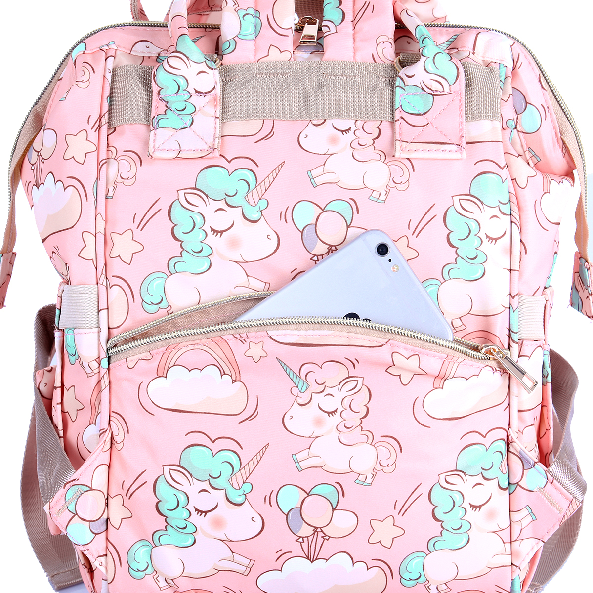 H80cc2197471040a0876f5acda4bfb5fe7 Diaper Bag Backpack For Moms Waterproof Large Capacity Stroller Diaper Organizer Unicorn Maternity Bags Nappy Changing Baby Bag