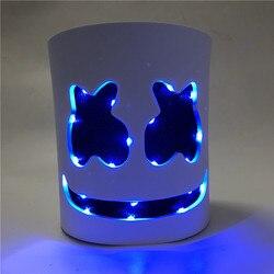 Algodão Doce Brilhando Cabeça DJ Marshmello Sílabas Banda de Cabeça Máscara de Halloween COS Banda Elétrica