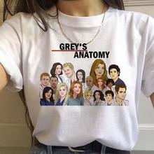 You're My Person Letter Clothes Cartoon Grey's Anatomy T-shirts Women 90s Harajuku Ullzang Fashion