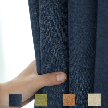 300cm Height Blackout Door Curtain Curtains For Modern Cotton Linen Bedroom Curtains Cloth Living Room Insulation Drapes