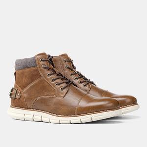 Zapatos informales para hombre, zapatillas cómodas, de cuero de moda, 2020 # BY507C3