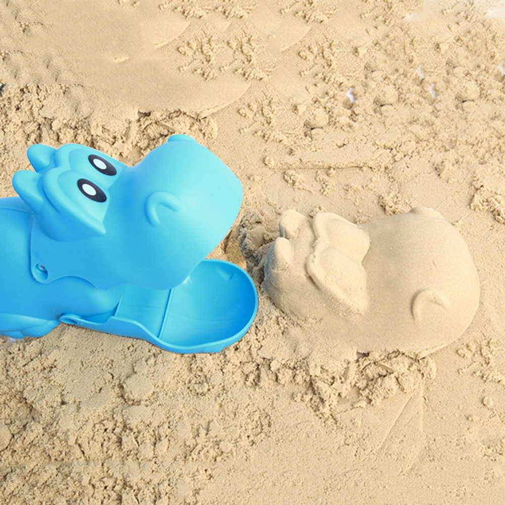 Durable Children Snowball Maker Clip Practical Cute Cartoon Lobster Hippopotamus Outdoor Sports Sand Mold Toys Beach Toys