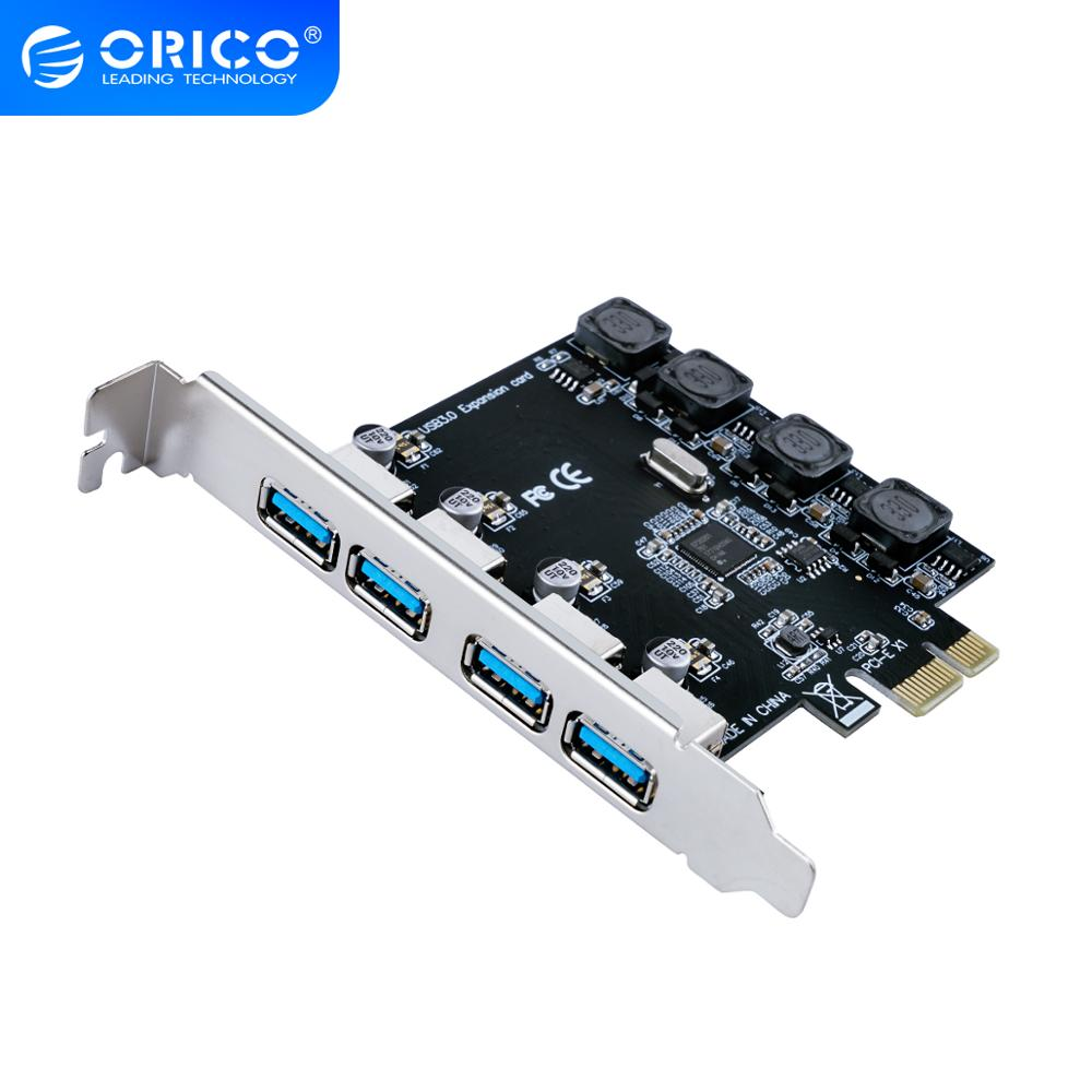 <font><b>ORICO</b></font> 2/4 Port PCIE to <font><b>USB3.0</b></font> Expansion Card PCIE X1 to <font><b>USB3.0</b></font> Adapter Hot-swap Conform to <font><b>PCI</b></font> Express2.0 Standard Support 5Gbps image