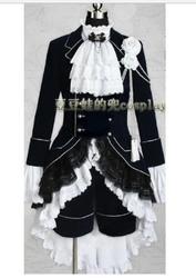 Preto mordomo cosplay ciel phantomhive preto cosplay traje