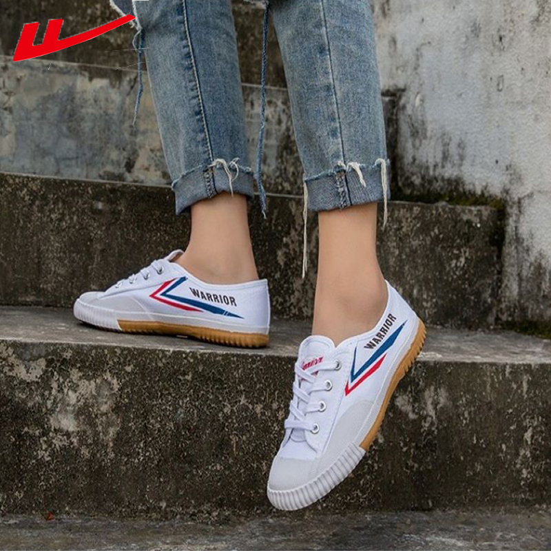 HuiLi Warrior Casual Canvas Shoes Lace Up Men Vulcanized Shoes Fashion Couple's White Shoes Sneakers Unisex Wd-2a