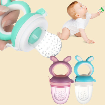 10pcs silicone pacifier holder Baby Eat Vegetable Food Fruit Bite Bag Safe Kids Feeding Training Pacifier Food Feeder soother 1