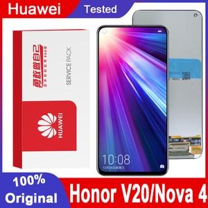 """Image 1 - מקורי 6.4 """"תצוגת עבור Huawei Honor V20 LCD הכבוד להציג 20 תצוגת מגע מסך Digitizer עצרת עבור Huawei נובה 4 מסך"""