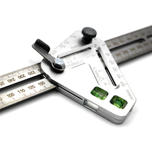 Combination Square Ruler Multi-function Angle Ruler Triangle Woodworking Measuring Ruler for Engineers Carpentry Utensil 12 inch combination tri square ruler stainless steel machinist measuring angle ruler for measurment tool