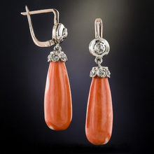 Retro lágrima pedra laranja balançar brincos linda jóias sintético coral cristal casamento brinco para mulher