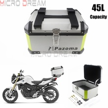 Universal Motorcycles Lock Topcase Cargo Luggage 45L Aluminum Tail Box Case Street Bike Rear Storage Top For Kawasaki Honda