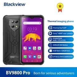 Blackview BV9800 Pro globalny pierwszy obraz termowizyjny Smartphone Helio P70 Android 9.0 6GB + 128GB wodoodporny 6580mAh telefon komórkowy
