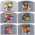 Супер Smash Братья Марио вечерние 2 3 Marioed Kart 64 карточная игра 2 для Nintendo 64 видеоигры картриджи N64 консоли английская США/ЕС