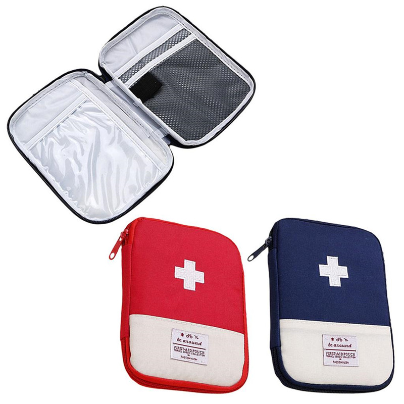 Vogvigo 1PC Portable Outdoor Travel First Aid Kit Medicine Bag Home Small Medical Box Emergency Survival Pill Case S/L
