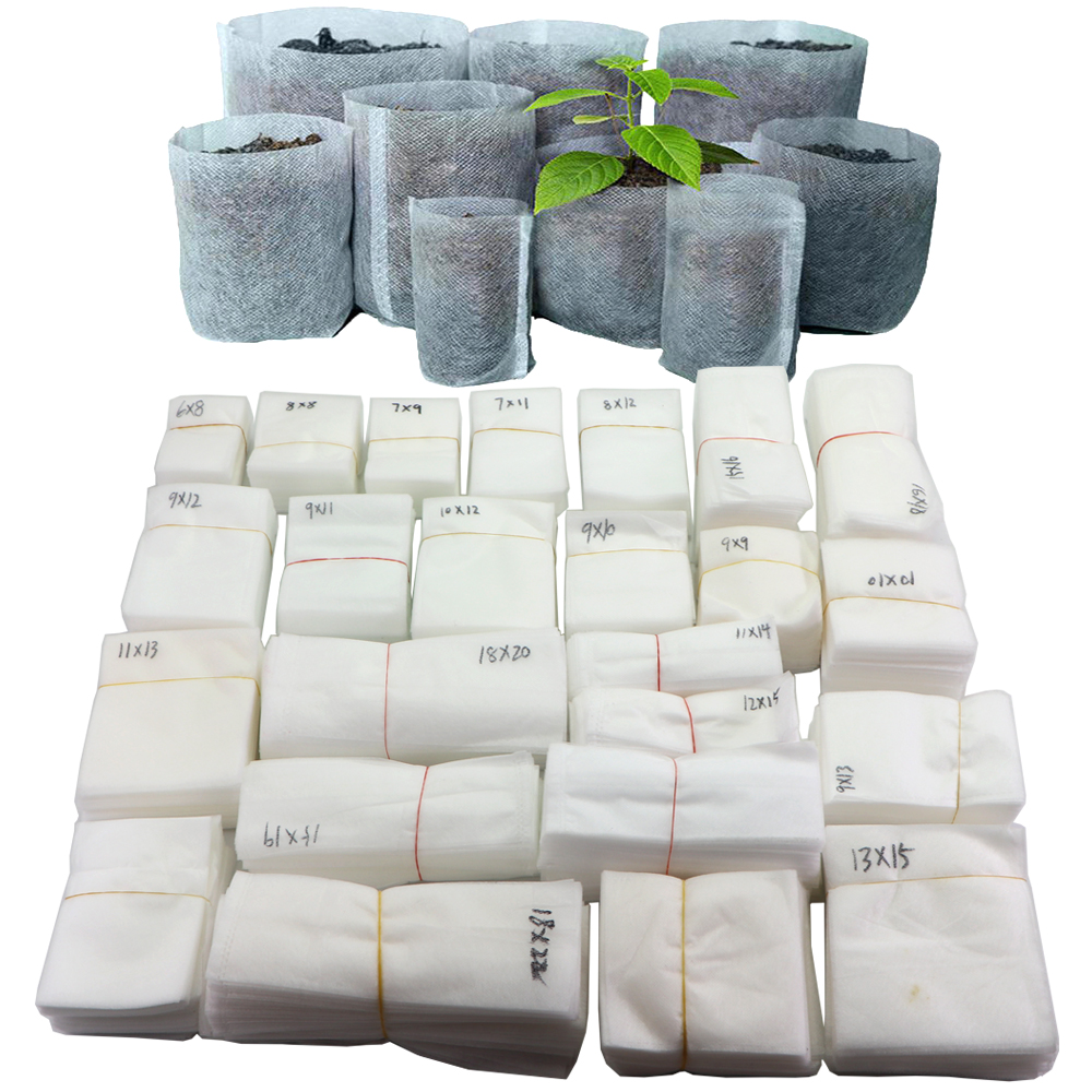 Биоразлагаемый нетканый материал детская мешки для растений выращивания рассады, ящик для комнатных растений, горшки для посадки растений ...