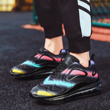 2019 Spring and Autumn Men's shoes new shock absorption breathable mesh trend casual men shoes sneakers Yasilaiya Mixed Colors