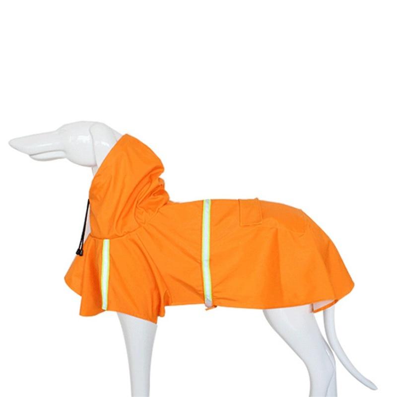 Dog Raincoat Adjustable Waterproof Rain Jacket With Reflective Strip font b Pet b font Poncho Hoodies