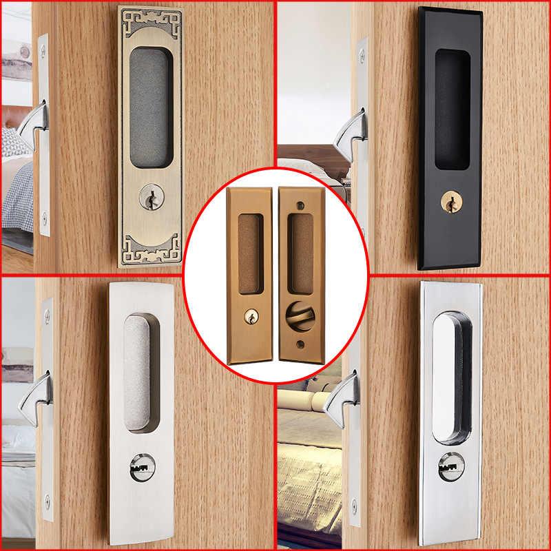 5 Styles Sliding Door Lock Interior Bathroom And Lavatory Lock Hook Invisible Move Door Lockset With Keys Locks Aliexpress