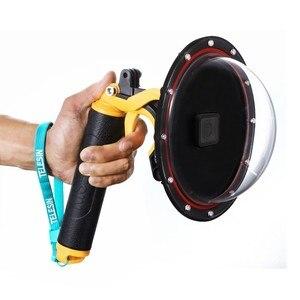 Image 4 - TELESIN Aksesuarları 3 Model su geçirmez muhafaza için Dome Portu Gopro Oturumu Gopro Hero Için 7 6 5 için DJI kamera yatağı