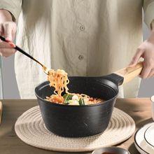 Soup-Pan Cookware Maifan-Stone Induction Saucepan with Lid Bakelite-Handle 18cm Fondue