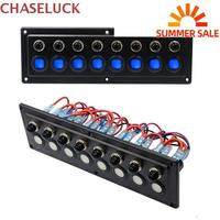 Universal 8 Digit Way Switch Panel Smart Touch Switches Board Commander Auto Car Boat Cabin RV Yacht Bus Refit Control 12 24V