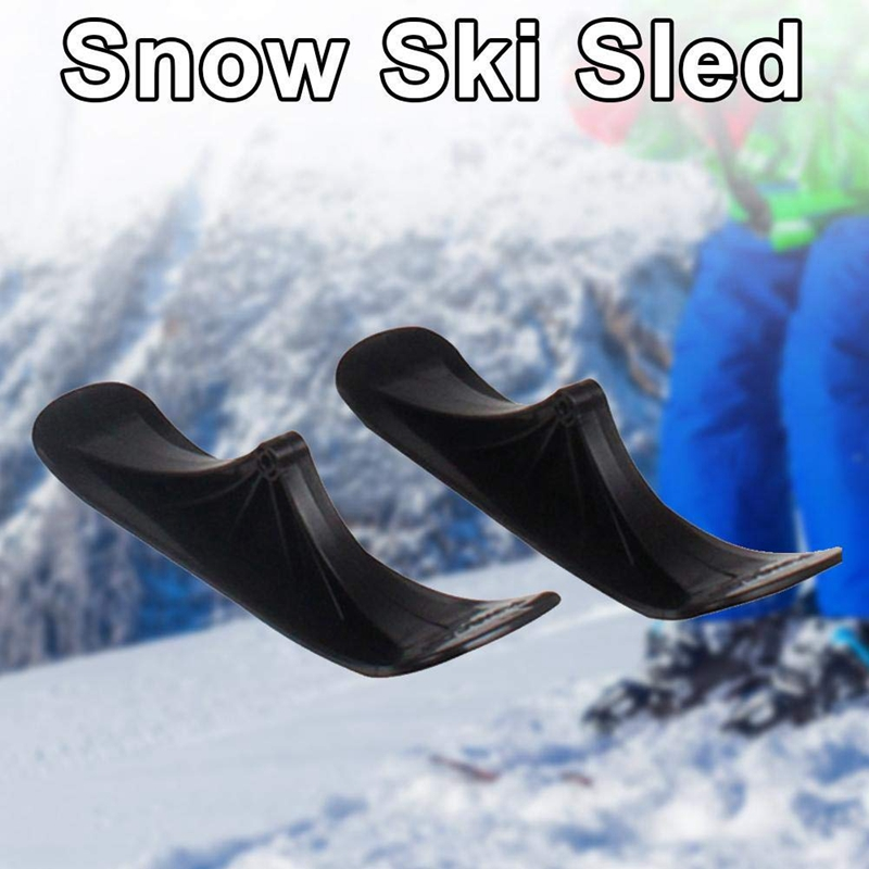 Super Sell-Snow Ski Sled Set Winter Children Electric Scooter Ski Sled Accessories Dual-Use Snow Scooter For Balance Bike