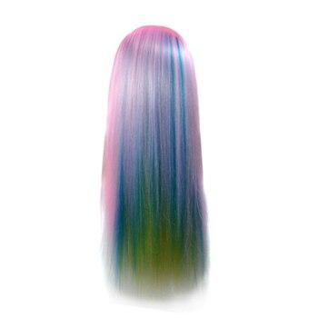 цена на ABVP Beauty Salon Synthetic Hair Model Practice Training Head Salon Hair Model Doll Model