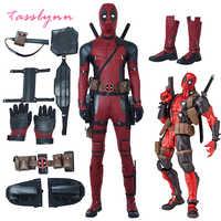 Flash Cosplay disfraz de Deadpool Wade Winston Wilson mono habitación Deluxe, conjunto de trajes de piel de Halloween Cosplay para adultos