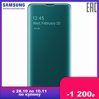 Case for Samsung Clear View cover Galaxy S10 Green
