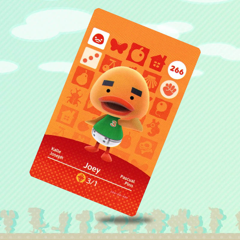 266 Joey Animal Crossing Card Amiibo Card Work for NS Switch Game New Horizons image