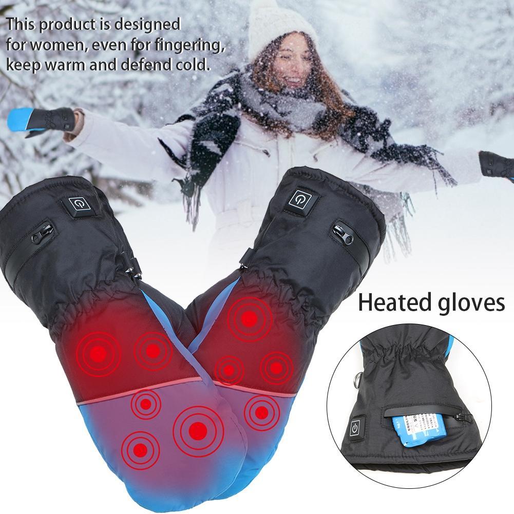 Gants chauffants électriques gants chauffants à écran tactile isolés rechargeables pour femmes gants de Ski à cinq doigts en hiver