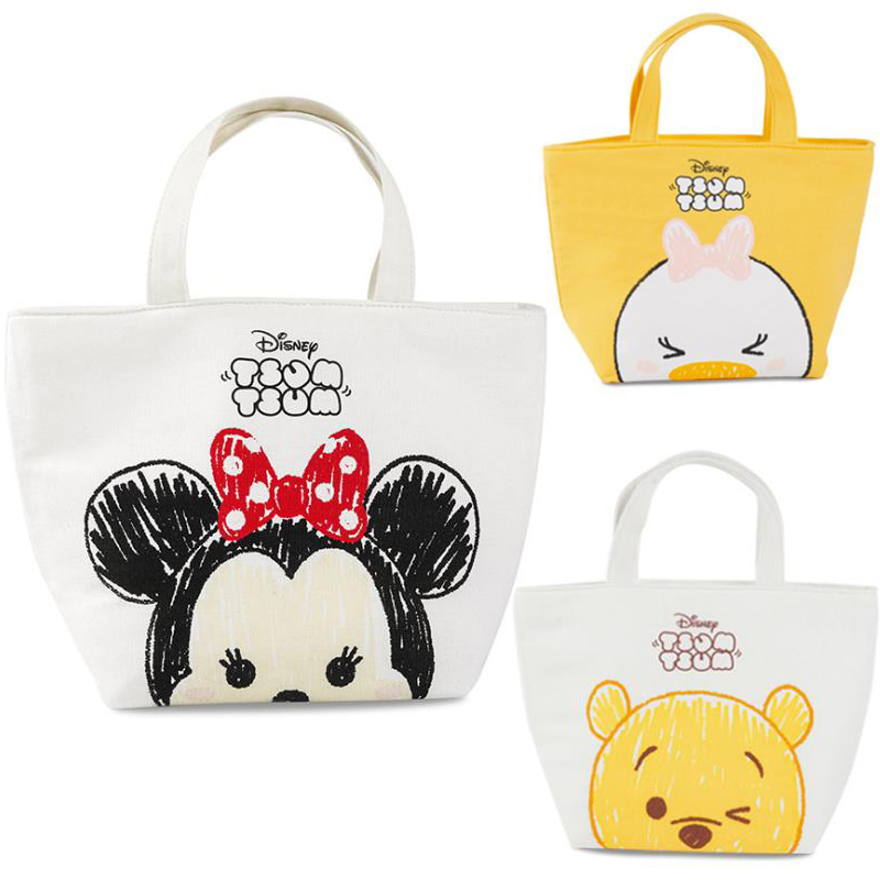 1 Pc Genuine Disney Lunch Bag Minne Winnie Portable Insulated Canvas Lunch Bag Thermal Food Picnic Lunch Bags For Women Kids