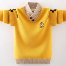 Children sweater 3-17T kids winter warm jacket baby boys pullovers long sleeve knitted velvet turtleneck fit shirt collar outfit