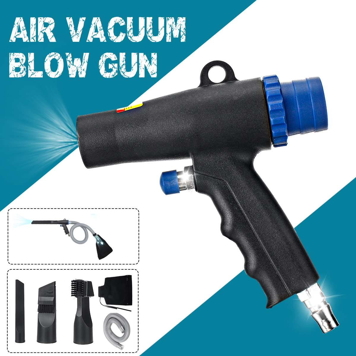 2 In 1 6KPA 10CFM Air Wonder Guns Kit Dual Function Air Vacuum Blow Guns Pneumatic Vacuum Cleaner Tools Air Blow Suction Guns