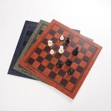 Chess Board Unique Design Of Embossed Pattern Leather Chess Board Board General Universal Chess Board Portable Checkerboard