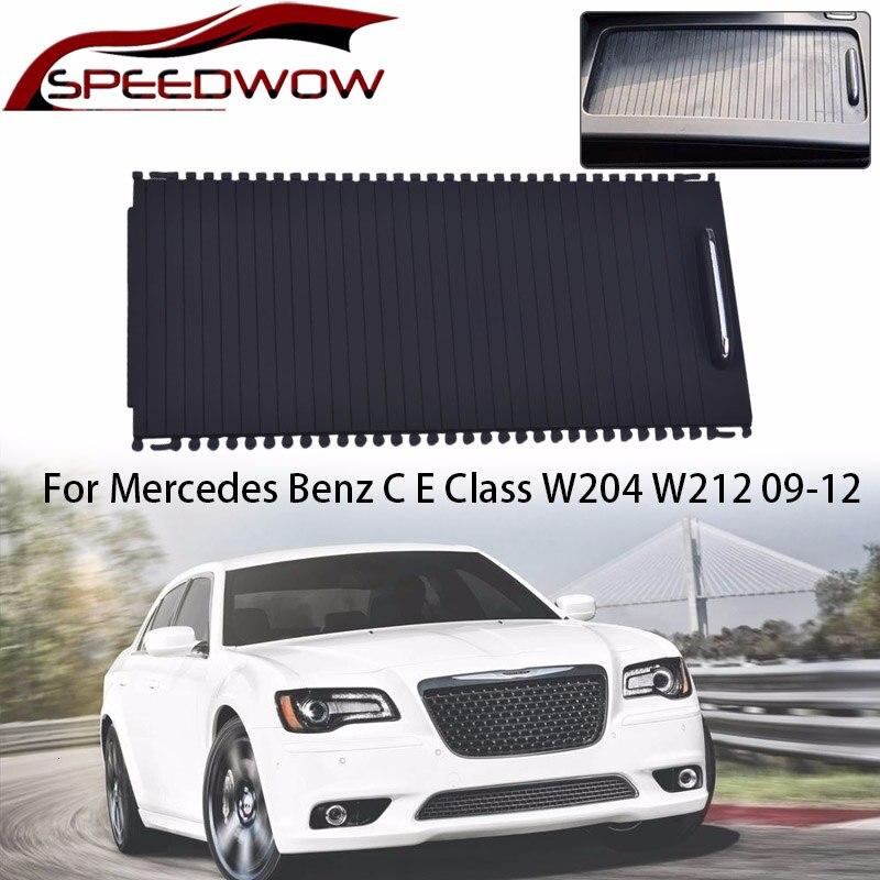 SPEEDWOW Car Center Console Roller Cup Holder Zipper Storage Box Trim For Mercedes C E Calss W204 S204 E Class W212 S212 C180 Stowing Tidying     - title=