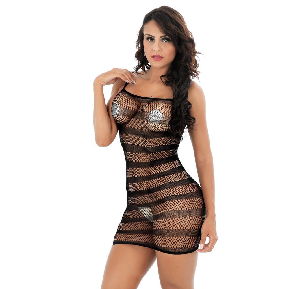 2020 Newly Lady Stripe Condole Belt Fish Net Erotic Lingerie Sex Hollow Out Lace Bodysuit See Through Adult Costumes Set Gift