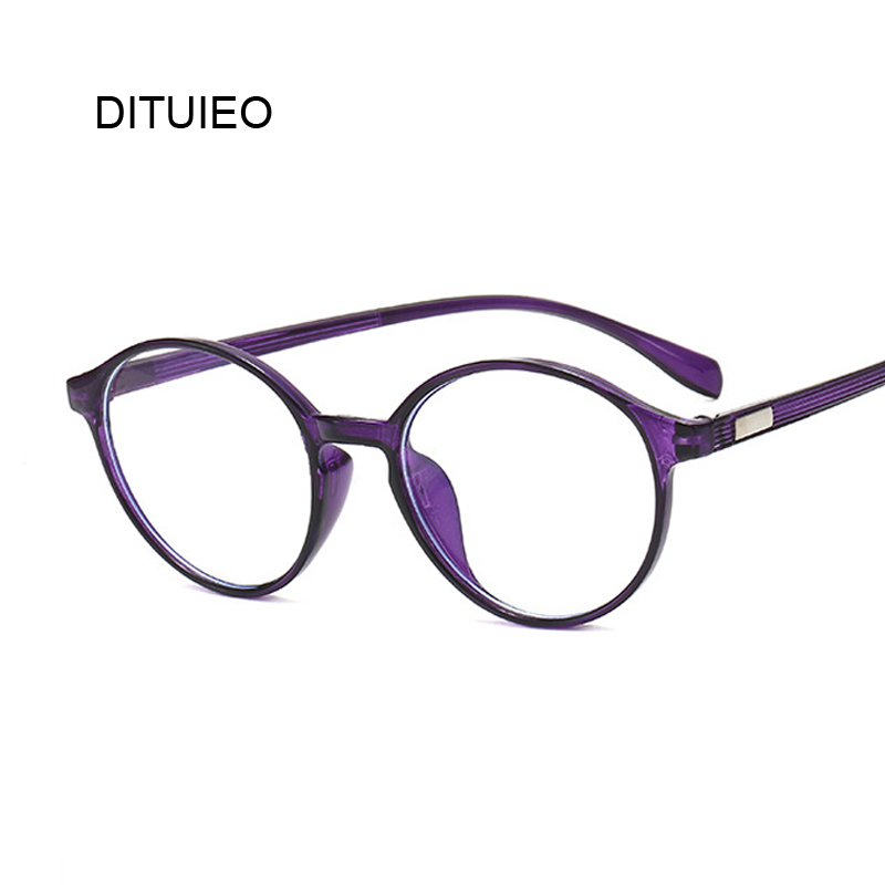 Round Transparent Clear Lens Eyeglasses Fake Optical Glasses Frames For Women Myopia Glass Spectacles Eyewear Computer Glasses