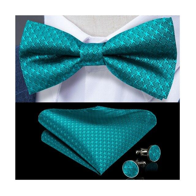 Robe formelle pour hommes | 10 Styles, ensemble nœud papillon, mariage, rouge, bleu, or, accessoires, cravate papillon, boutons de manchette, DiBanGu
