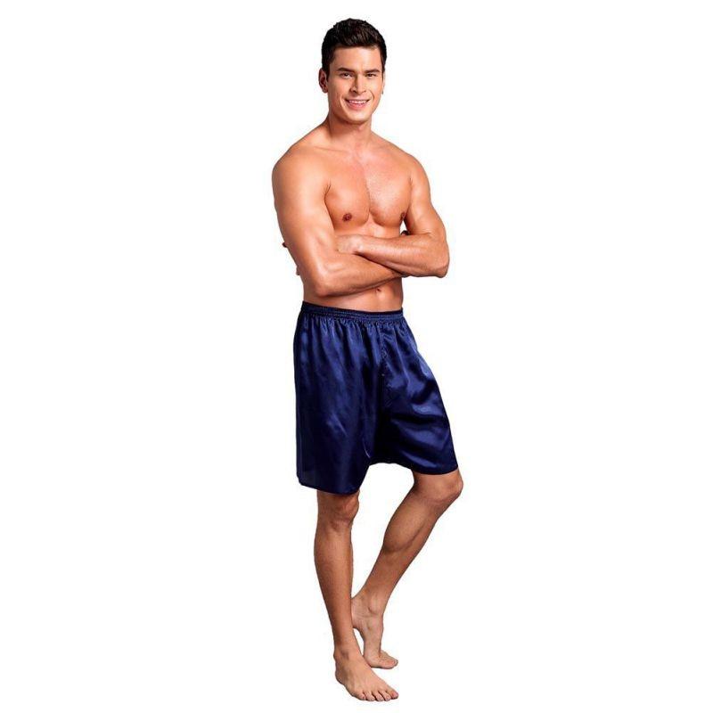 Men Pajama Shorts Sleep Bottoms Solid Lounge Short Pants Soft Summer Sleeping Shorts Home Pajama Pants Underwear Plus Size 2019