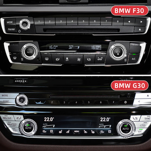 Image 3 - 3 個カーエアコンノブ装飾カバー bmw F30 F34 F36 G30 M3 M4 X1 F48 X3 G01 x4 G02 X5 F15 X6 F16 アクセサリー
