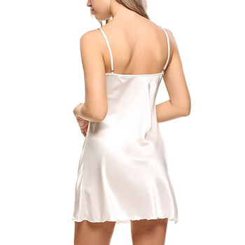 Sexy Women Sleepwear Fashion Ladies Solid Color Lace Backless Sleepdress Camisa de Noite Mulher 2019 New Arrival Hot Sale Y 4
