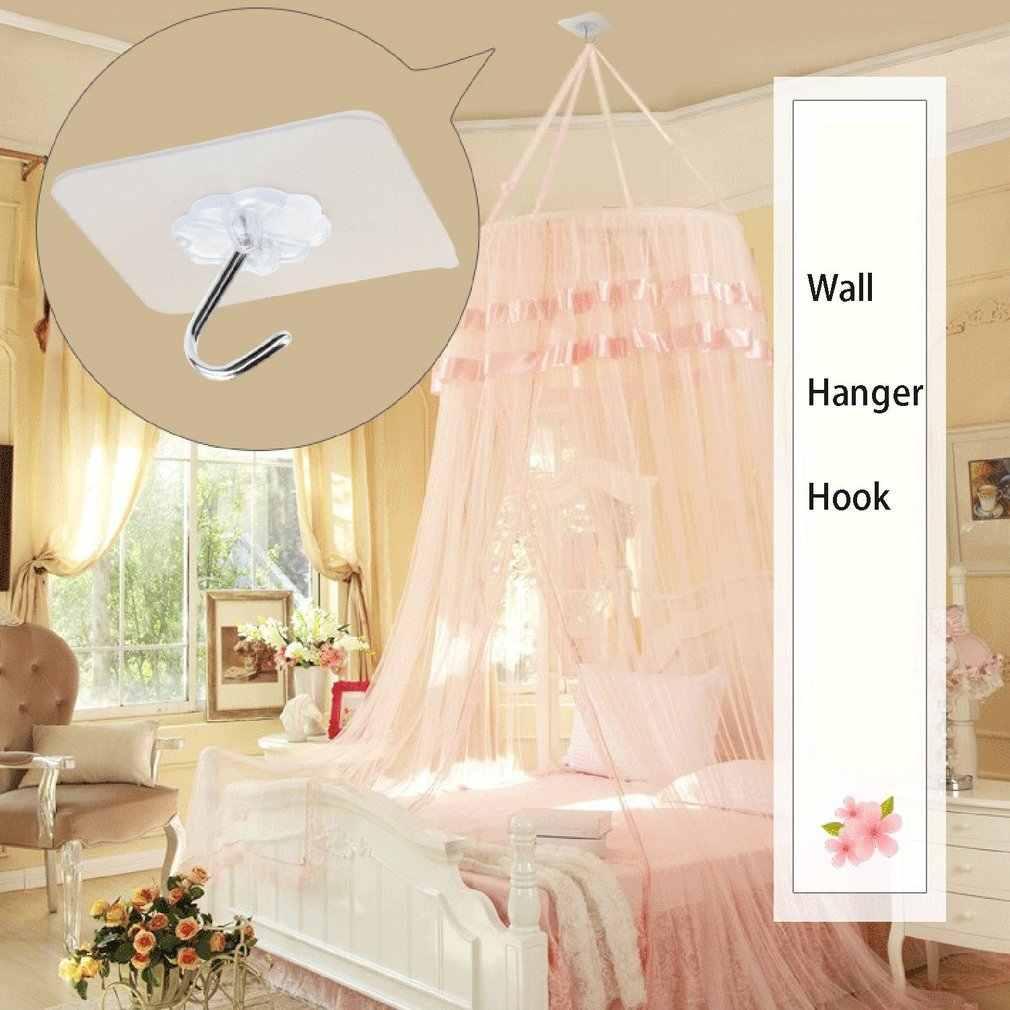 1pcss/lot Seamless Adhesive Waterproof Transparent Hook Load Bearing 10kg Wall Hook Kitchen Bathroom Wall Hanger Organizer