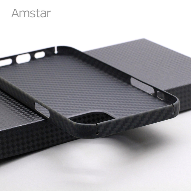 Amstar Real Carbon Fiber Phone Case for iPhone 12 Pro Max Ultra Thin Anti-fall Carbon Fiber Hard Cover Cases for iPhone 12 Mini 4