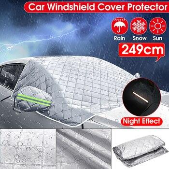 Universal Car Windshield Mirror Reflective Bar Cover Sun Shade Protector Winter Snow Ice Rain Dust Frost Guard Aluminium Film