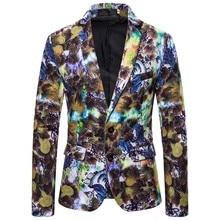 Print Suit Christmas Pattern Mens Blazer Jacket Flat Barge Collar Mens Fashionmen's Gothic fashion Party Blazer 9.27