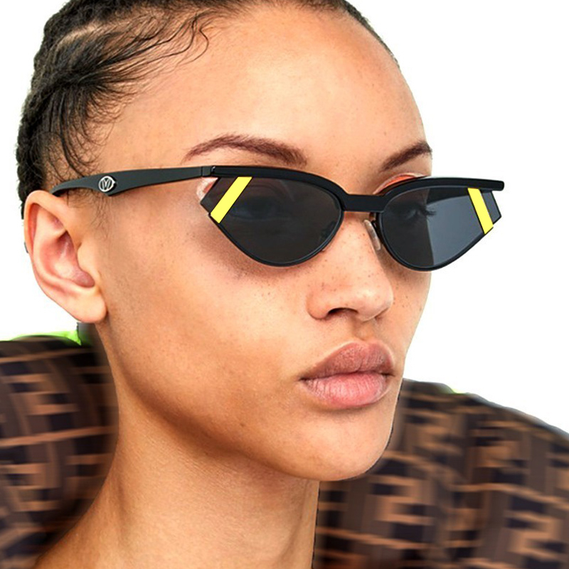 Sunglasses Women Lentes-De-Sol Cat-Eye Vintage Designer Fashion Luxury Brand Small UV400