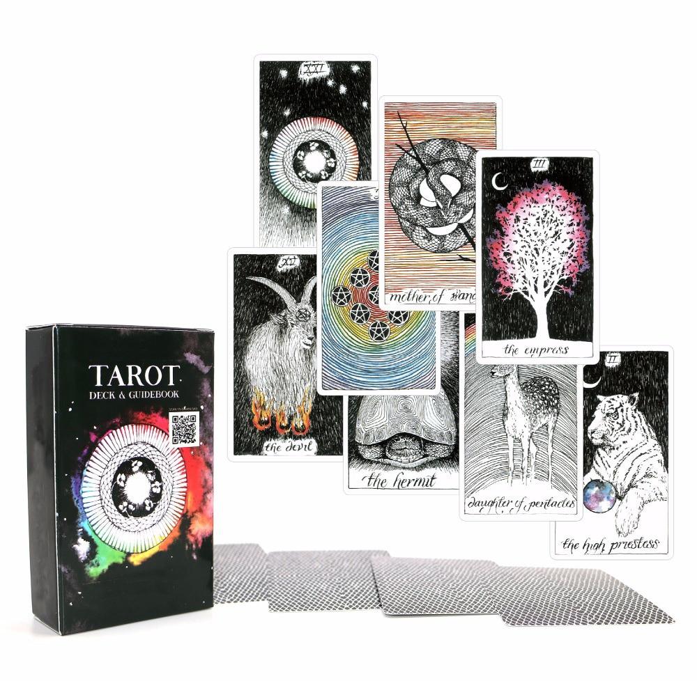 Acient Таро колода 78 карт-красивый мастер класс дизайн-электронная книга для руководство карты Таро игра для женщин