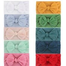 3-10pcs bebê faixas de cabelo crianças faixa arco meninas hairbands coelho orelha nó headwear turbantes algodão princesa acessórios de cabelo