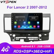 Vtopek 2 Din 2+32G 4G+WiFi Car Multimedia Player for Mitsubishi Lancer 2007-2012 Navigation GPS Android Car Stereo Radio 2din